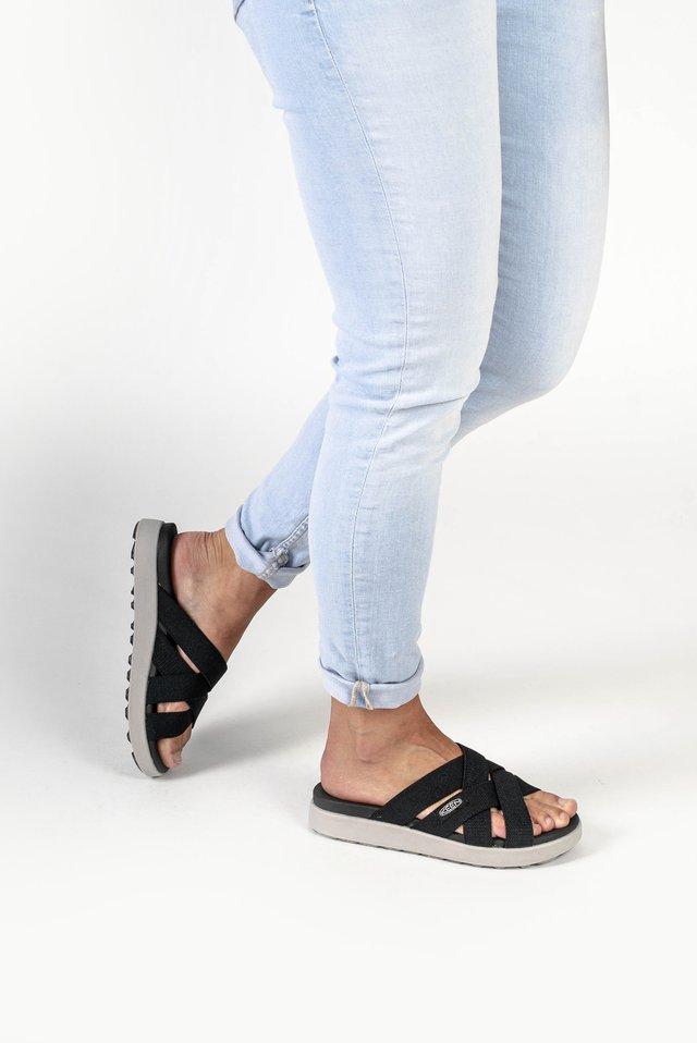 ELLE SLIDE - Pantolette flach - black