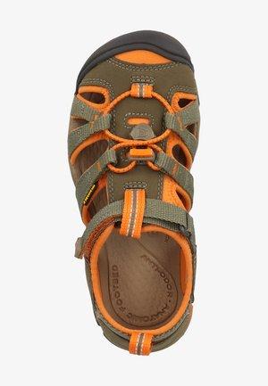 KEEN SANDALEN - Sandales de randonnée - dusty olive/russet orange