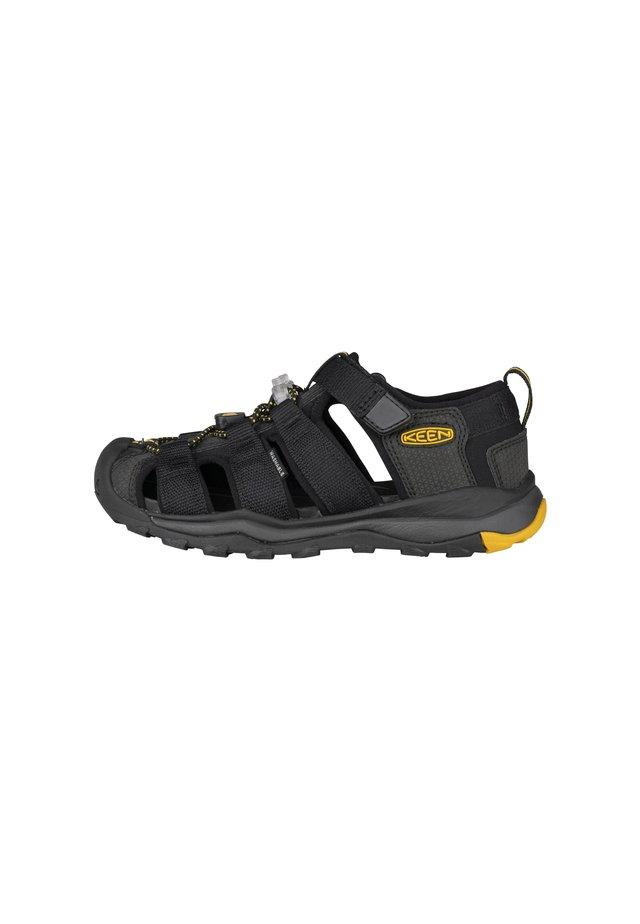 NEWPORT - Trekkingsandale - black/keen yellow