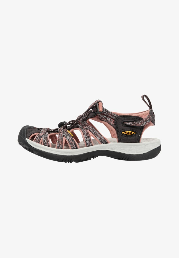 Keen - WHISPER - Walking sandals - raven/rose dawn