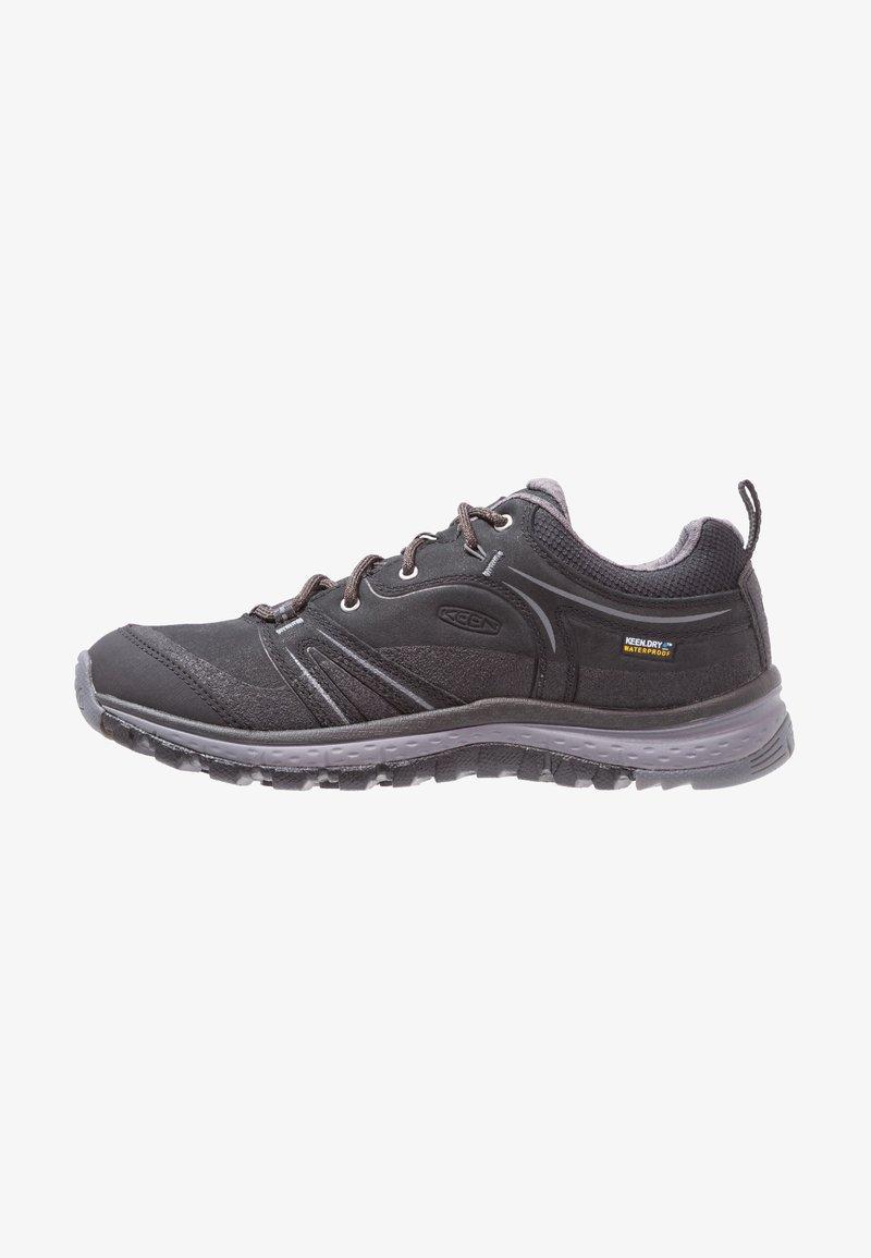 Keen - TERRADORA WP - Hiking shoes - black/steel grey