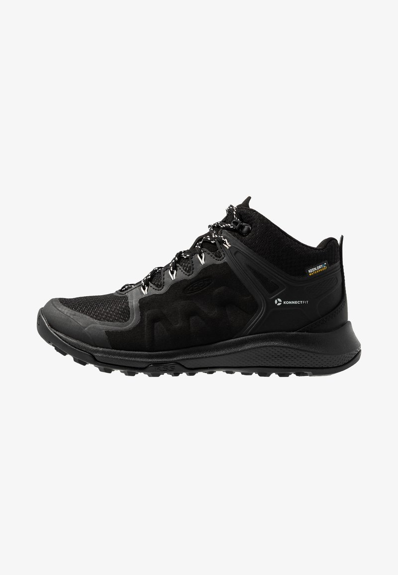 Keen - EXPLORE MID WP - Hiking shoes - black/star white