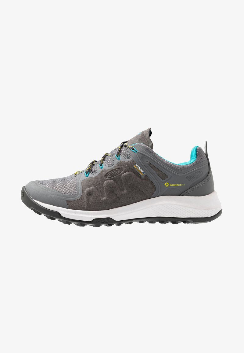 Keen - EXPLORE WP - Hiking shoes - steel grey/bright turquoise