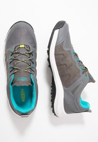 Keen - EXPLORE WP - Hiking shoes - steel grey/bright turquoise - 1