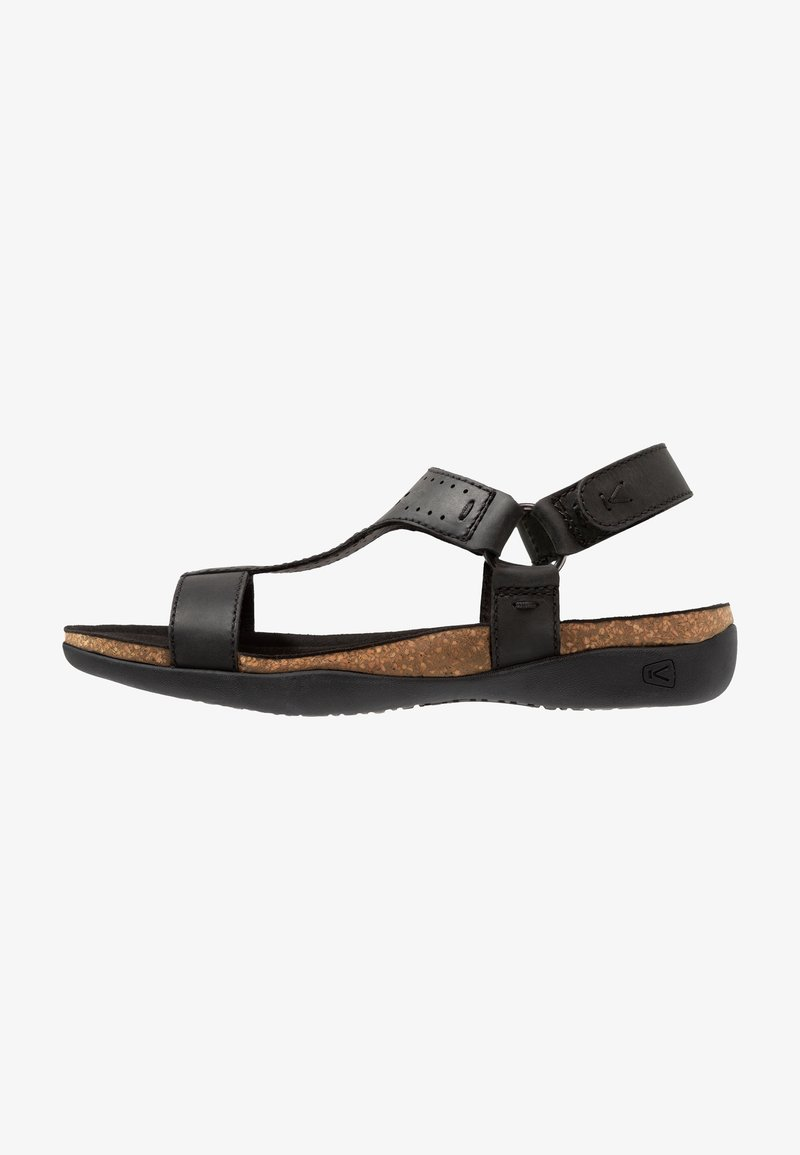 Keen - ANA KACI T-STRAP - Walking sandals - black