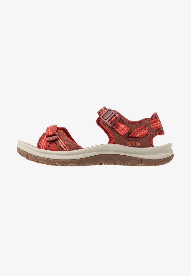 TERRADORA II  - Walking sandals - dark red/coral