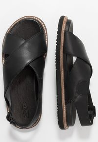 Keen - LANA CROSS STRAP - Outdoorsandalen - black - 1