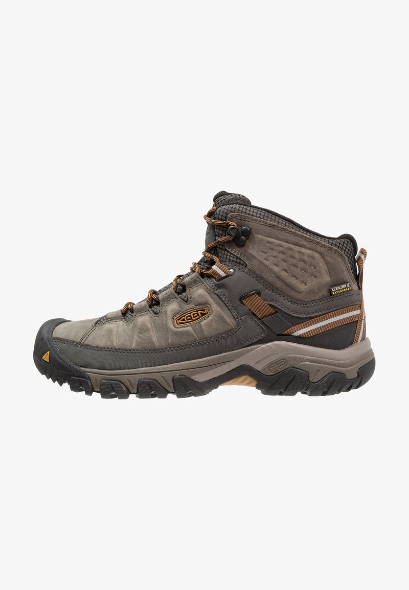 Keen - TARGHEE III MID WP - Hiking shoes - black olive/golden brown