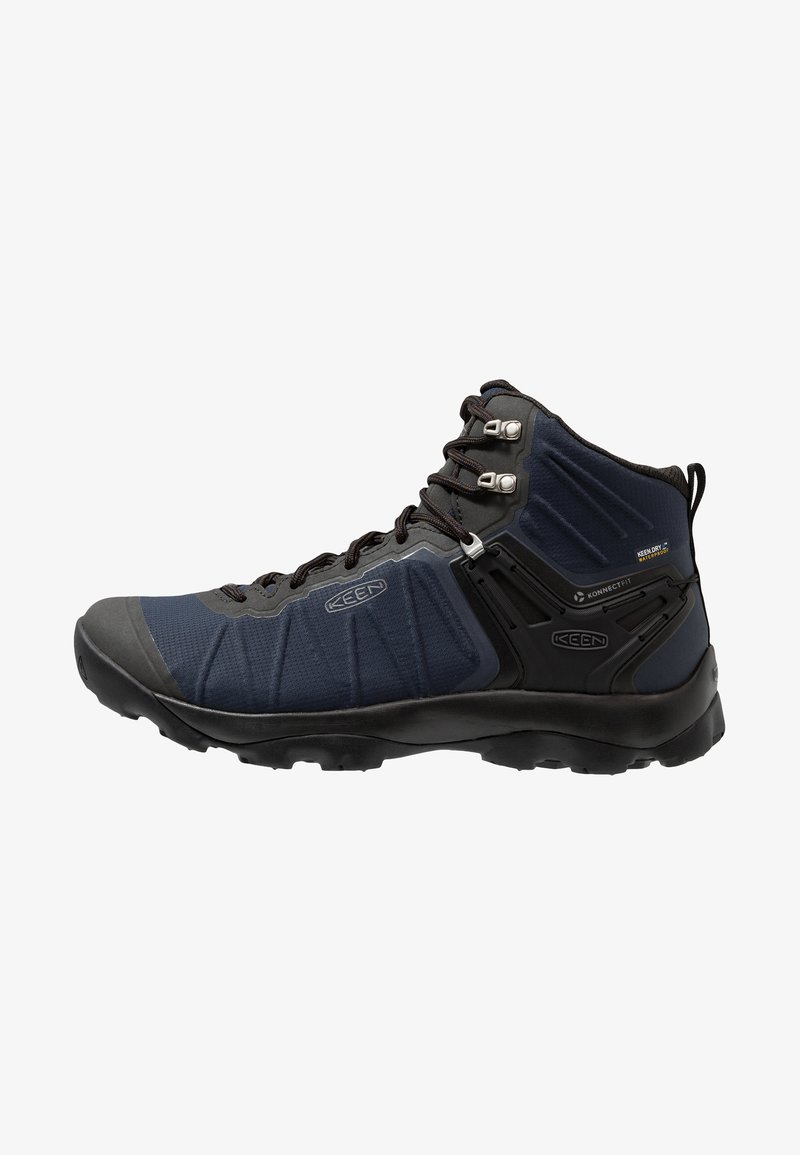 Keen - VENTURE MID WP - Hiking shoes - blue nights/raven