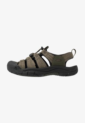 NEWPORT H2 - Walking sandals - forest night/black