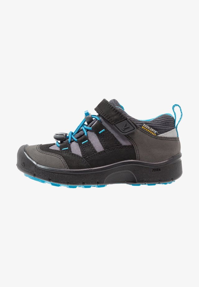HIKEPORT WP - Hiking shoes - black/blue jewel