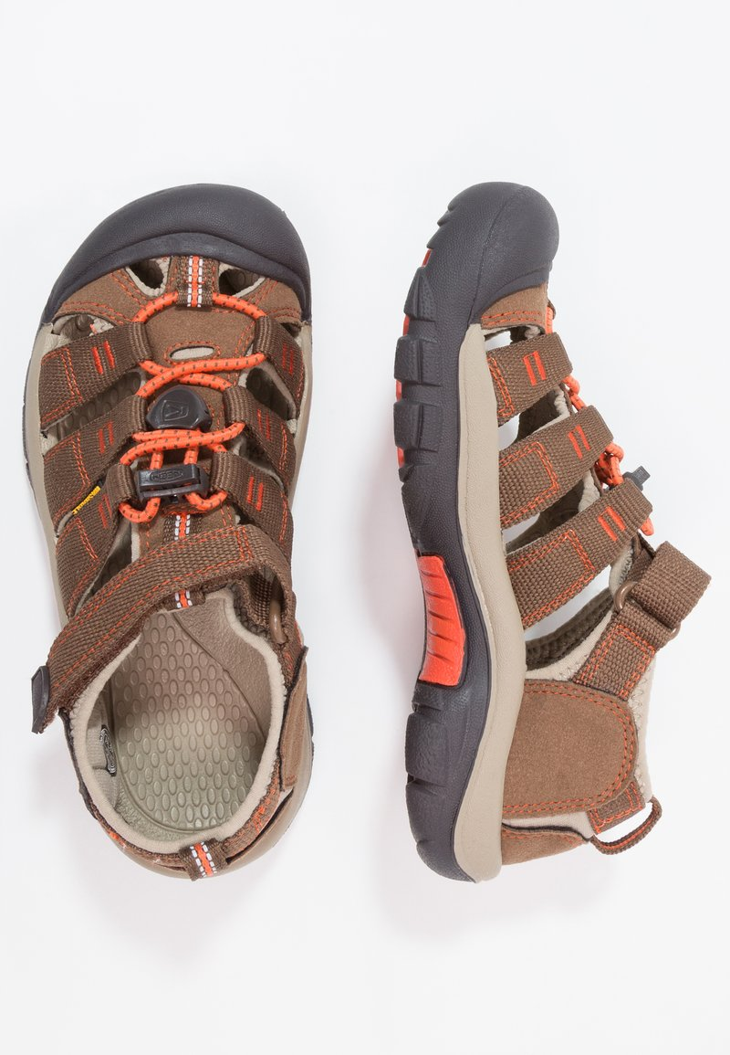 Keen - NEWPORT H2 - Walking sandals - dark earth/spicy orange