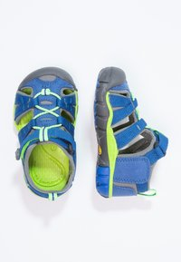 Keen - SEACAMP II CNX - Sandały trekkingowe - true blue/jasmine green - 1
