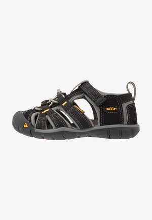 SEACAMP II CNX - Walking sandals - black/yellow