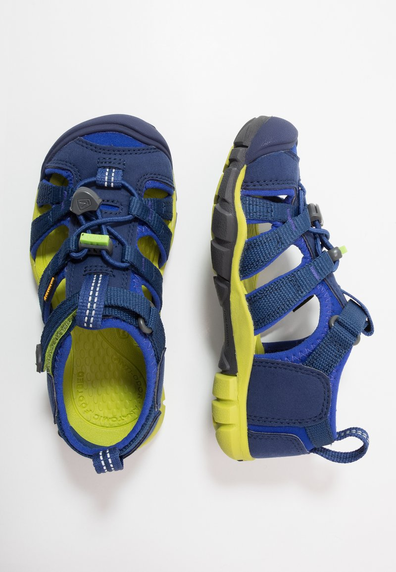 Keen - SEACAMP II CNX - Chodecké sandály - blue depths/chartreuse