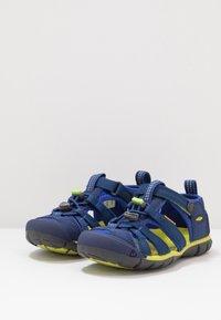 Keen - SEACAMP II CNX - Chodecké sandály - blue depths/chartreuse - 3