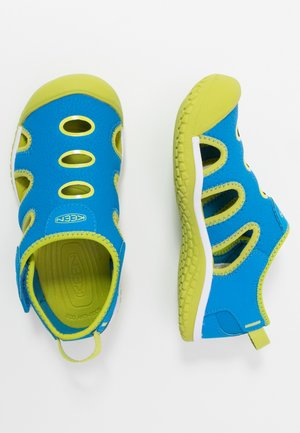 STINGRAY - Walking sandals - brilliant blue/chartreuse