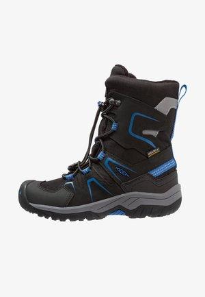 LEVO WP - Winter boots - black/baleine blue
