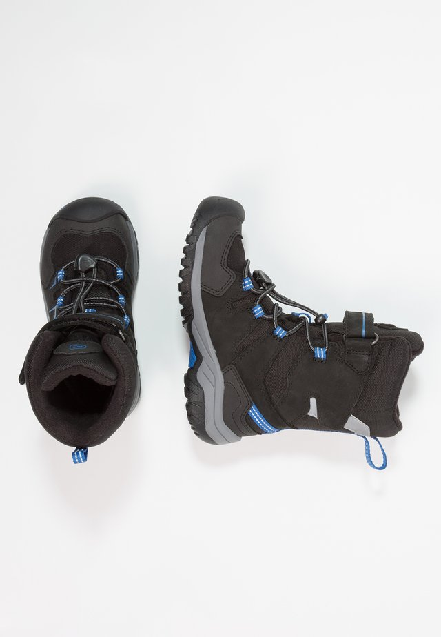 LEVO WP - Winter boots - black/baleine blue