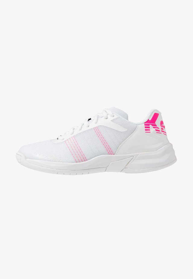 ATTACK CONTENDER WOMEN - Handball shoes - white/pink