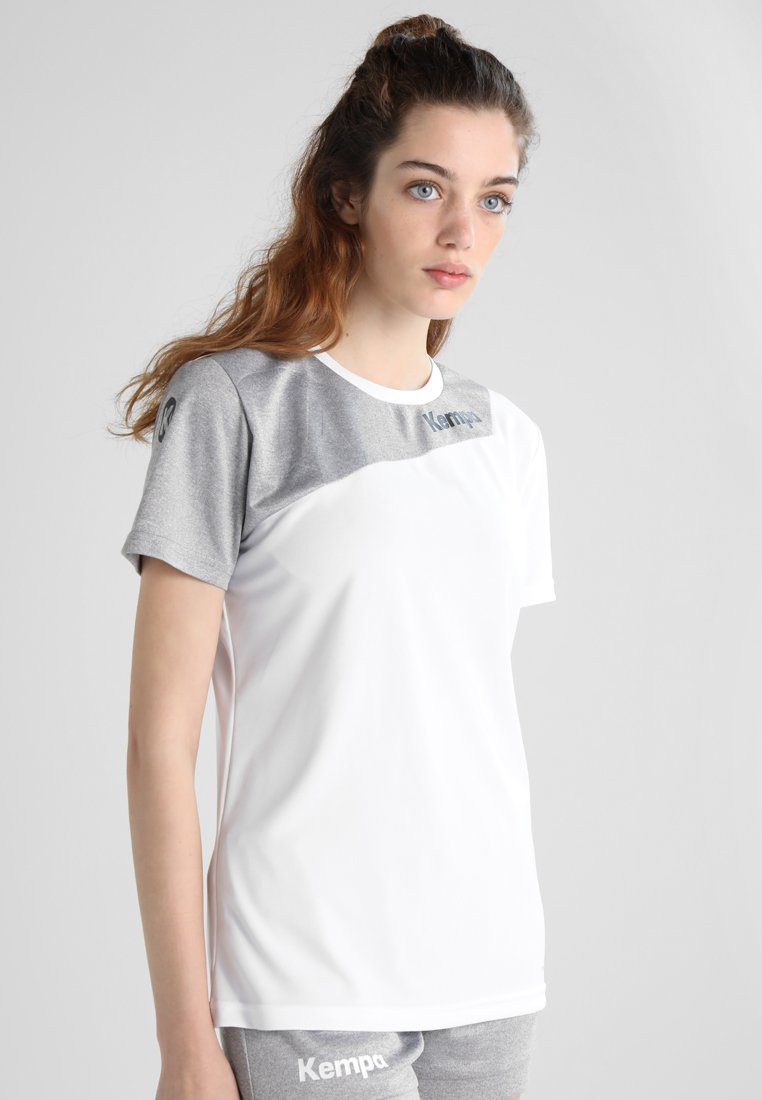 Kempa - CORE 2.0 TRIKOT WOMEN - Strój drużynowy - white/dark grey melange