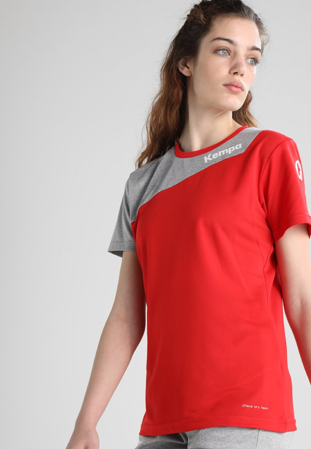CORE 2.0 TRIKOT WOMEN - Teamwear - red/dark grey melange