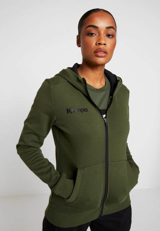 LAGANDA ZIP HOODY WOMEN - Zip-up hoodie - deep green