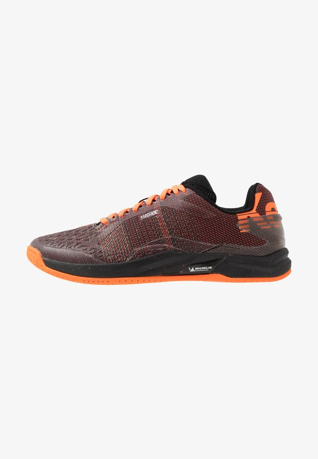 ATTACK PRO CONTENDER CAUTION  - Handball shoes - black/fluo orange