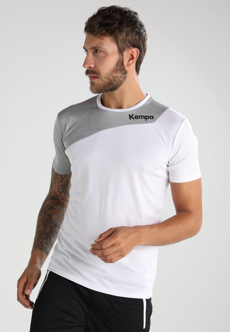 Kempa - CORE 2.0 TRIKOT - Sportswear - white/dark grey melange