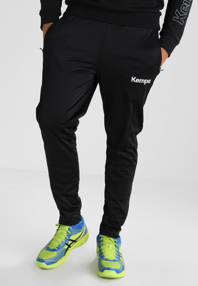 Kempa - CORE POLY  - Jogginghose - black/dark grey melange