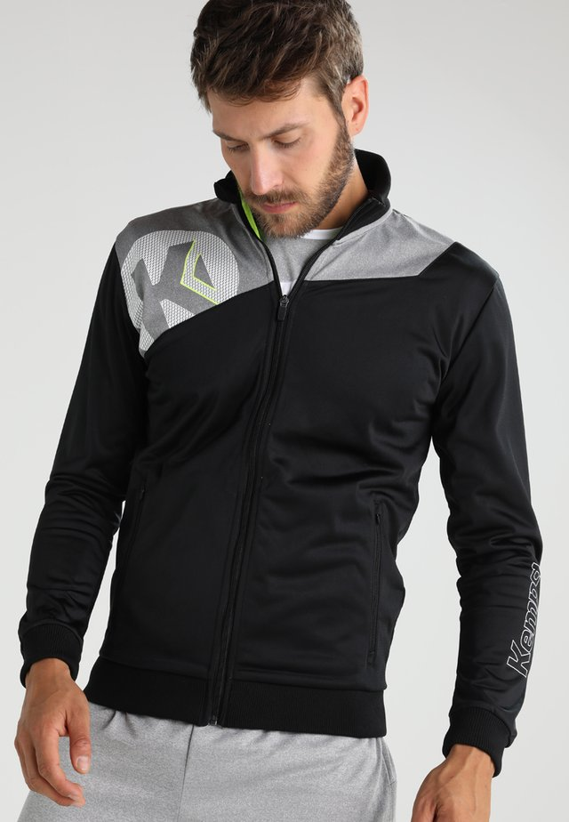 CORE POLY JACKE - Teamwear - black/dark grey melange