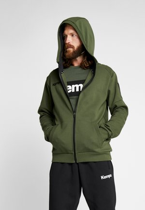 LAGANDA ZIP HOODY - veste en sweat zippée - deep green