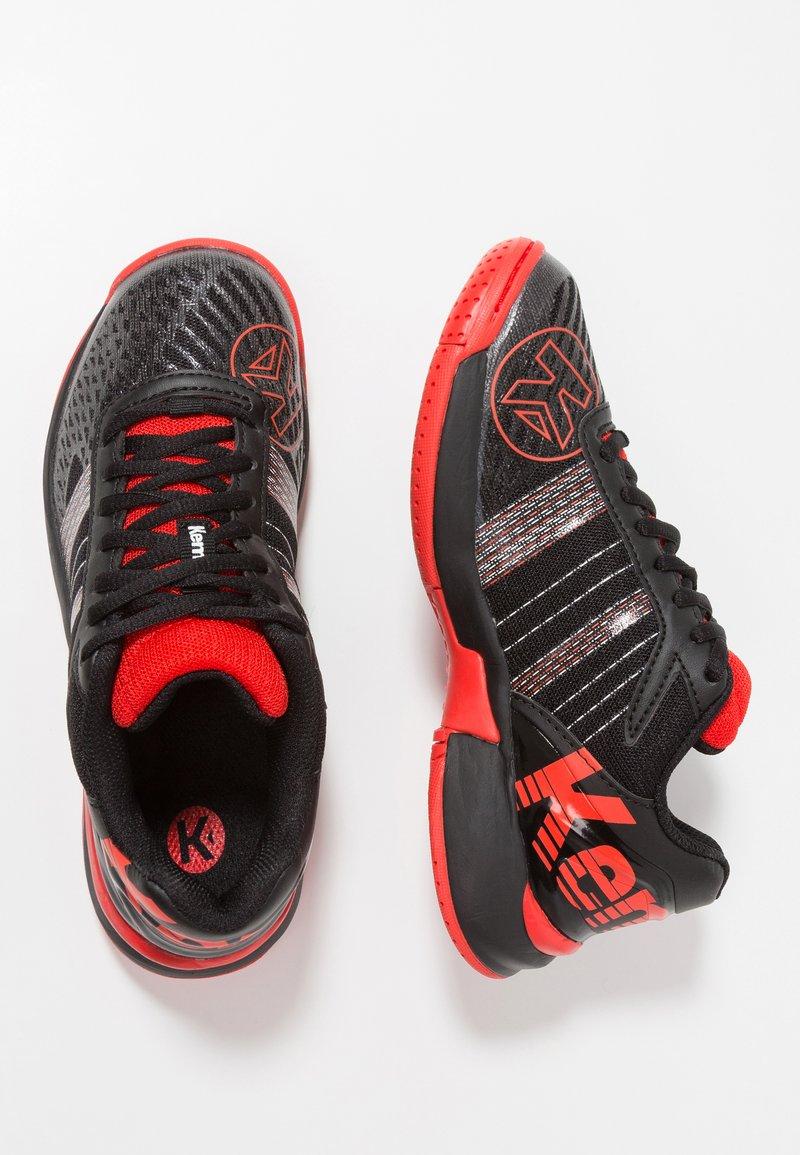 Kempa - ATTACK CONTENDER JUNIOR CAUTION - Handball shoes - schwarz/lighthouse rot