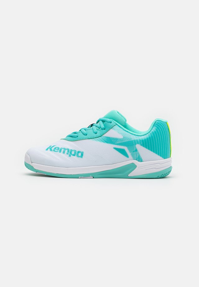 WING 2.0 JUNIOR - Handball shoes - white/turquoise