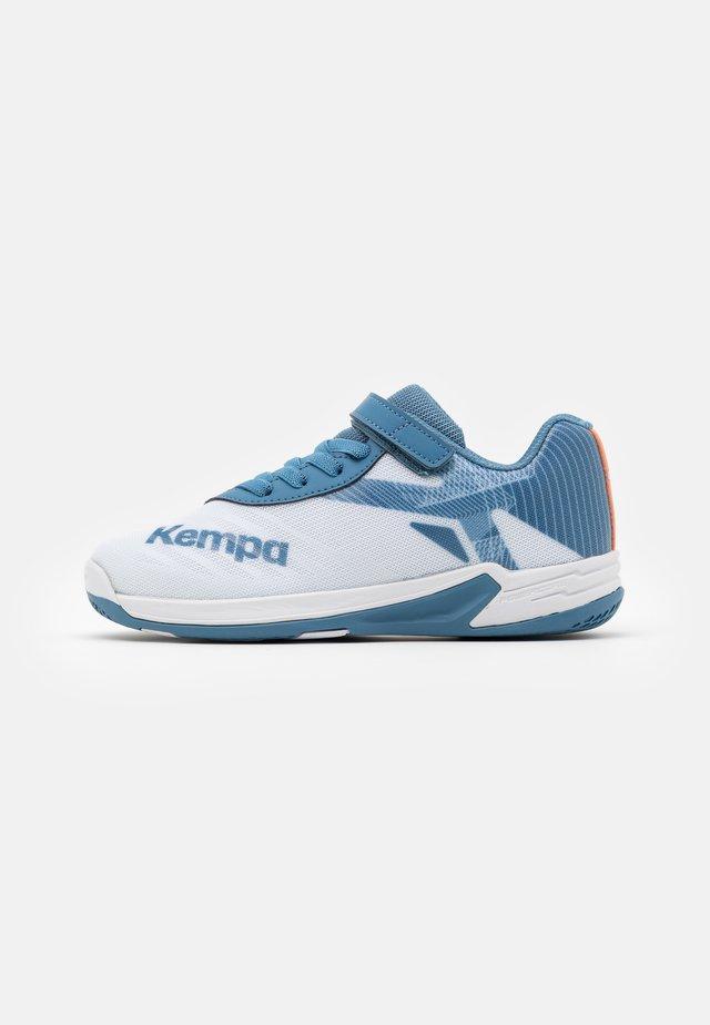WING 2.0 JUNIOR UNISEX - Handbalschoenen - white/steel blue
