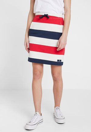 ANJELICA - Mini skirt - navy/pearl/true red
