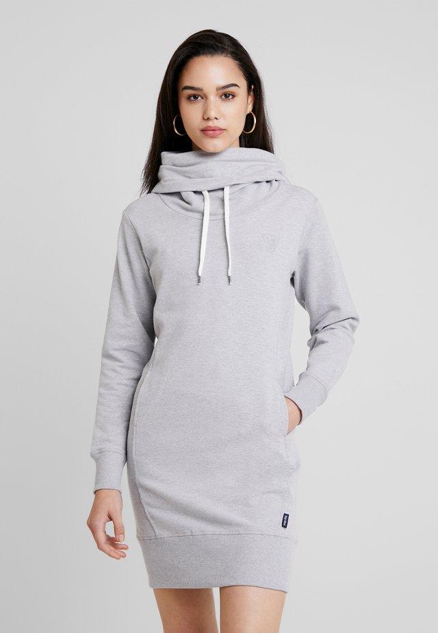DORA - Korte jurk - light grey melange
