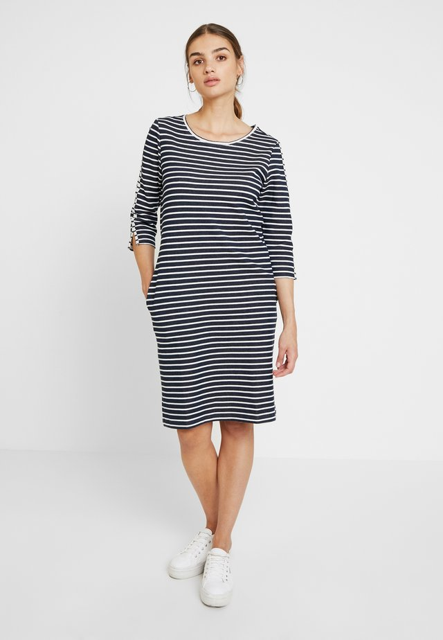 DAPHNE - Jersey dress - navy/pearl