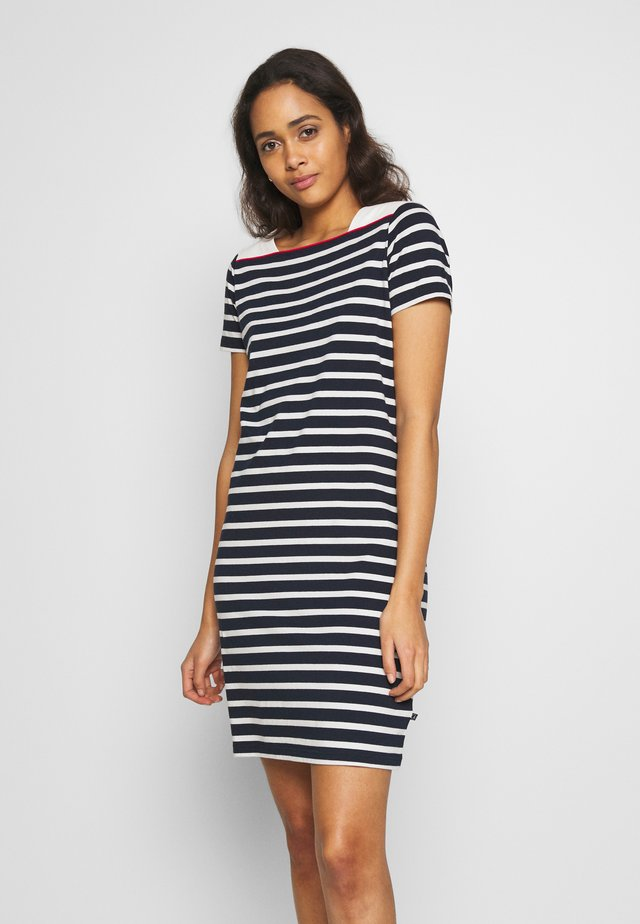 CONNI - Jersey dress - navy/pearl