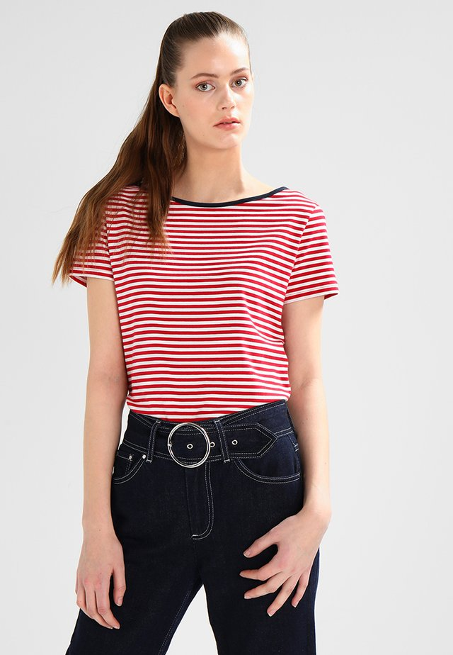 LUELLA - T-shirts med print - red/pearl