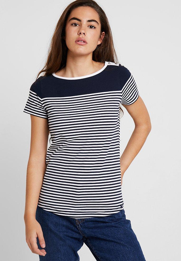 Key West - ALISON - T-Shirt print - navy/white