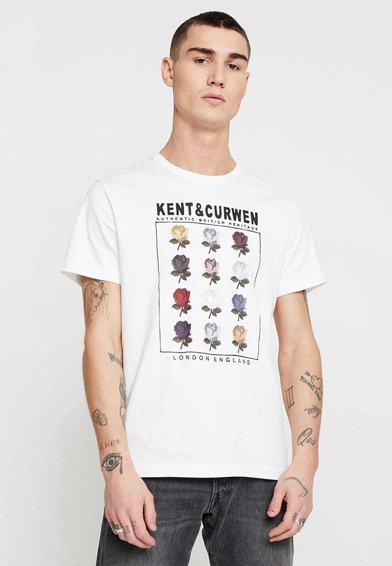 Kent & Curwen - ROSE  - Print T-shirt - white