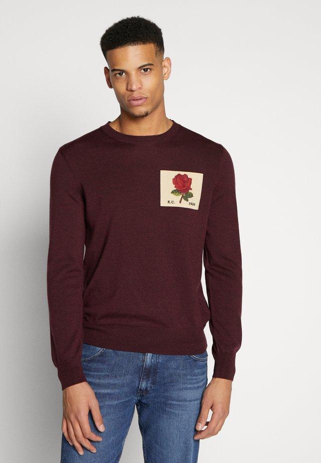 FLEET - Stickad tröja - burgundy