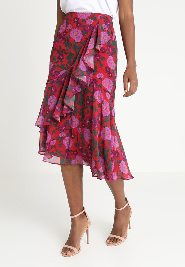 WAVES SKIRT - A-lijn rok - pomegranate