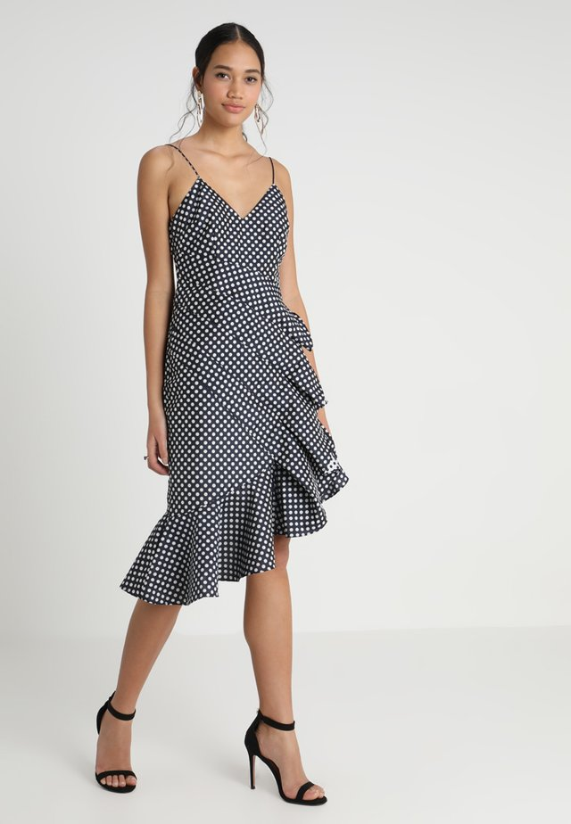 LOVE LIGHT DRESS - Cocktailjurk - navy/ivory