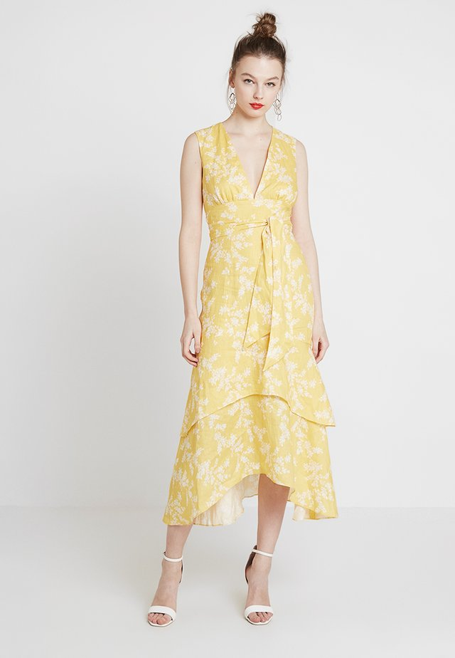 FALLEN DRESS - Korte jurk - yellow/beige