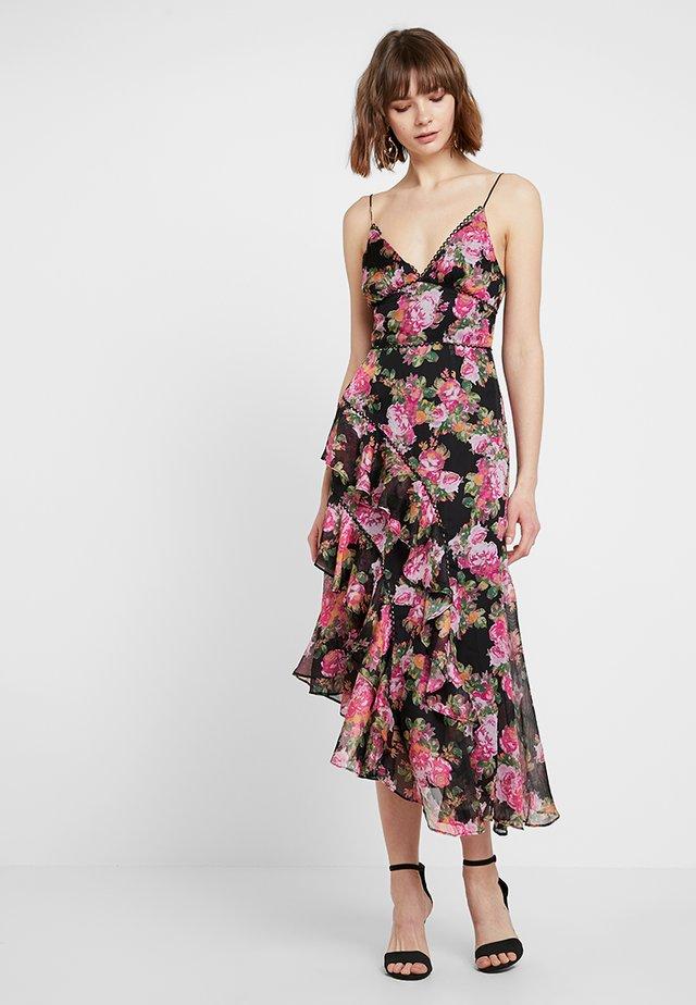 OBLIVION MIDI DRESS - Robe de soirée - black rose