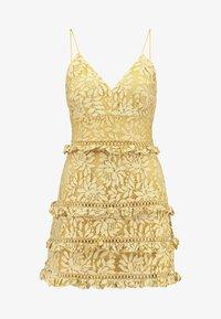 Keepsake - IMAGINE MINI DRESS - Cocktailkleid/festliches Kleid - golden yellow - 4