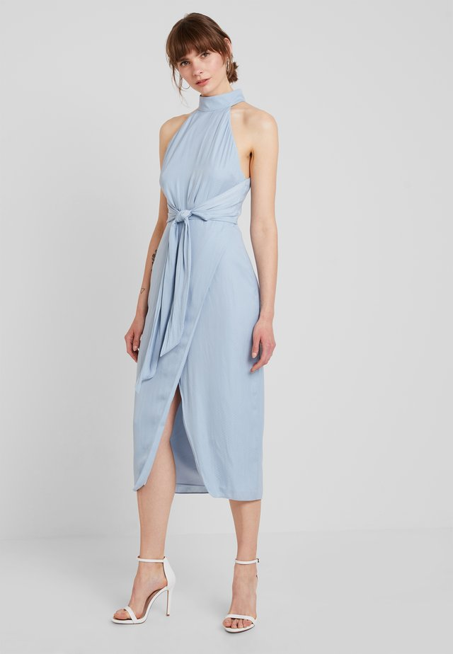 GRACIOUS MIDI DRESS - Galajurk - powder blue