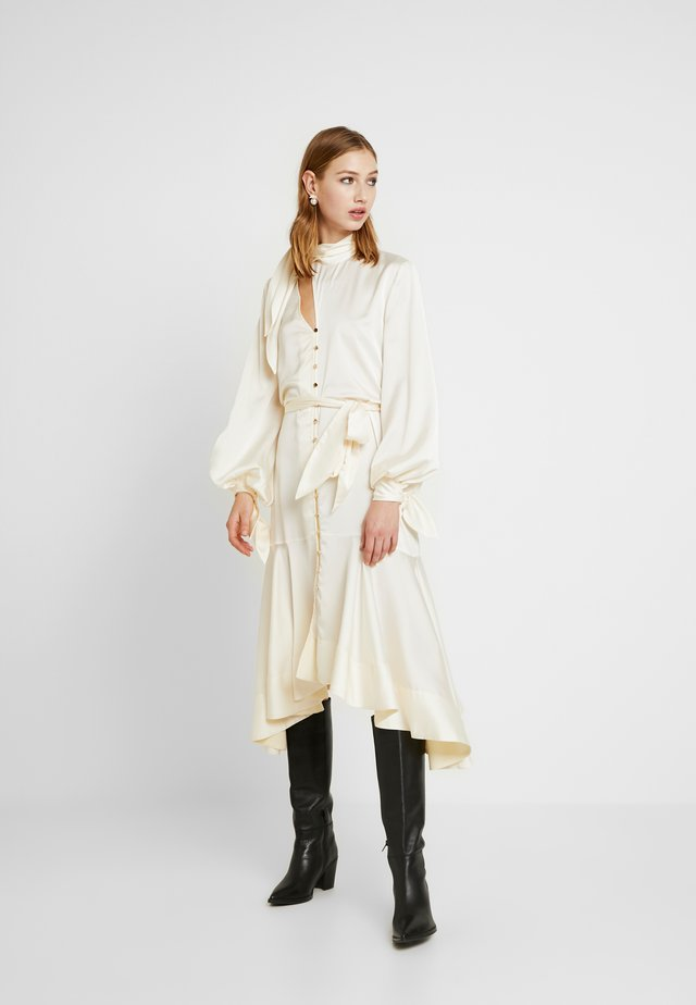 IRONIC MIDI DRESS - Shirt dress - creme